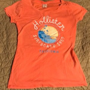 Hollister tropical graphic logo tee